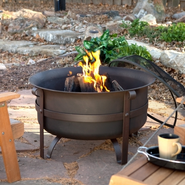 Awesome Cauldron Fire Pit Red Ember Brockton Steel Cauldron Fire Pit With Free Cover Fire