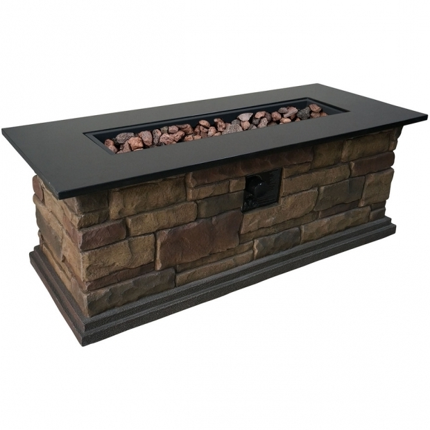 Awesome Lowes Gas Fire Pit Shop Bond Canyon Ridge 20 In W 50000 Btu Stone Look Composite