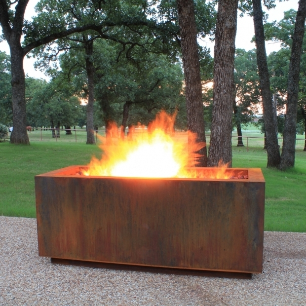 Beautiful Corten Steel Fire Pit Ten Steel Fire Pit Rectangular With Optional Lid