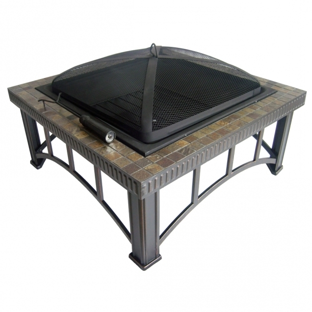 Beautiful Fire Pit At Lowes Shop Garden Treasures 30 Black Steel Wood Burning Fire Pit At