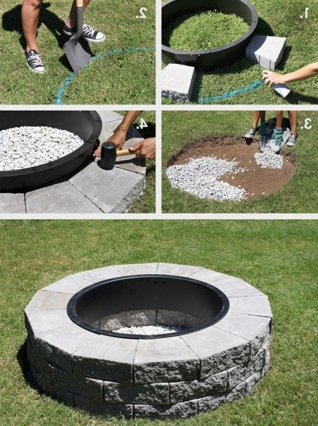 Delightful Brick Fire Pit Kit Diy Brick Fire Pit Kit Fire Pit Design Ideas