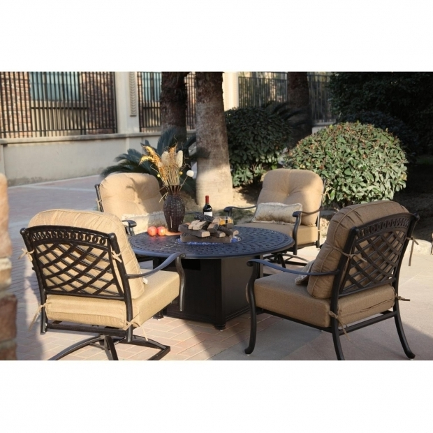 Delightful Conversation Set With Fire Pit Patio With Fire Pit Conversation Set Piece Cast Aluminum Patio