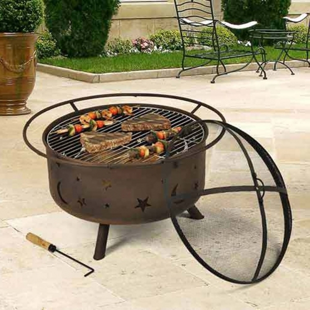 Delightful Fire Pit Topper Cosmic Fire Pit With Cooking Grill Hitnet Storefront