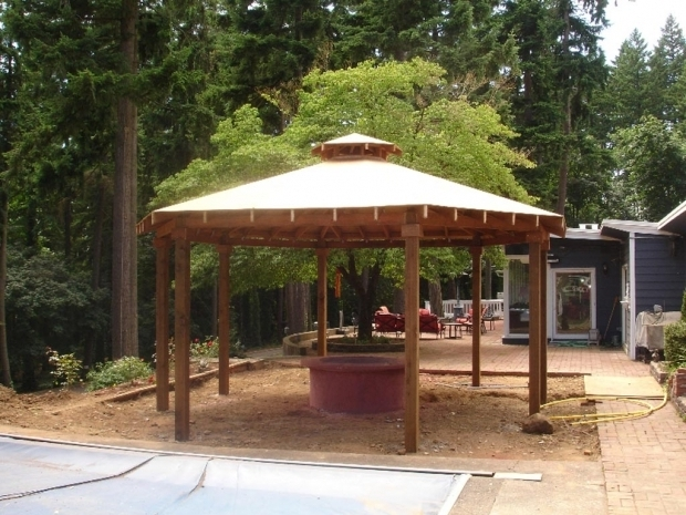 Delightful Gazebo With Fire Pit Gazebo Plans With Fire Pit Fire Pit Design Ideas