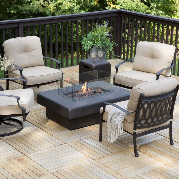 Delightful Patio Conversation Sets With Fire Pit Belham Living Palazetto Cast Aluminum Fire Pit Chat Set With