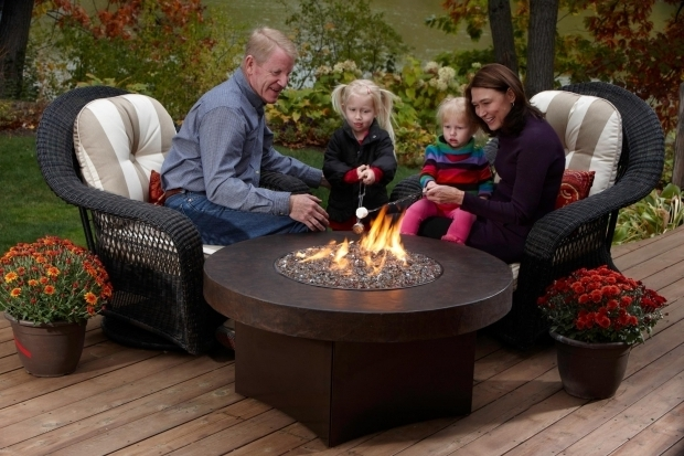 Delightful Tabletop Gas Fire Pit Oriflamme Gas Fire Pit With Savannah Stone Table Top