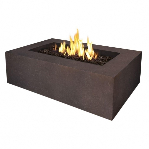 Delightful Threshold Fire Pit Real Flame Baltic 51 In Rectangle Propane Gas Outdoor Fire Pit In