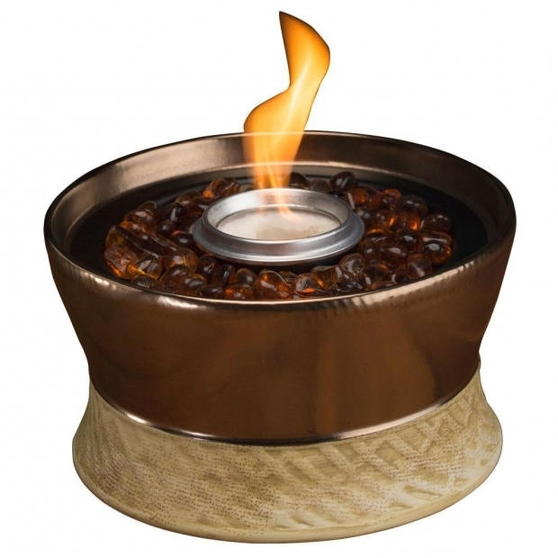 Delightful Tiki Fire Pit Tiki Clean Burn Small Bronze Tabletop Fire Pit 1114152 The Home