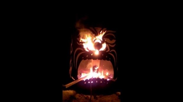 Delightful Tiki Fire Pit Tiki God Fire Pit Youtube