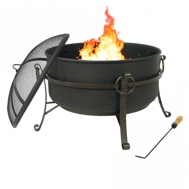 Fantastic Cauldron Fire Pit Sunnydaze Steel Cauldron Fire Pit With Spark Screen Size Options