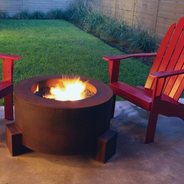 Fantastic Corten Steel Fire Pit Ten Steel Fire Pit 30 In Round With Optional Lid
