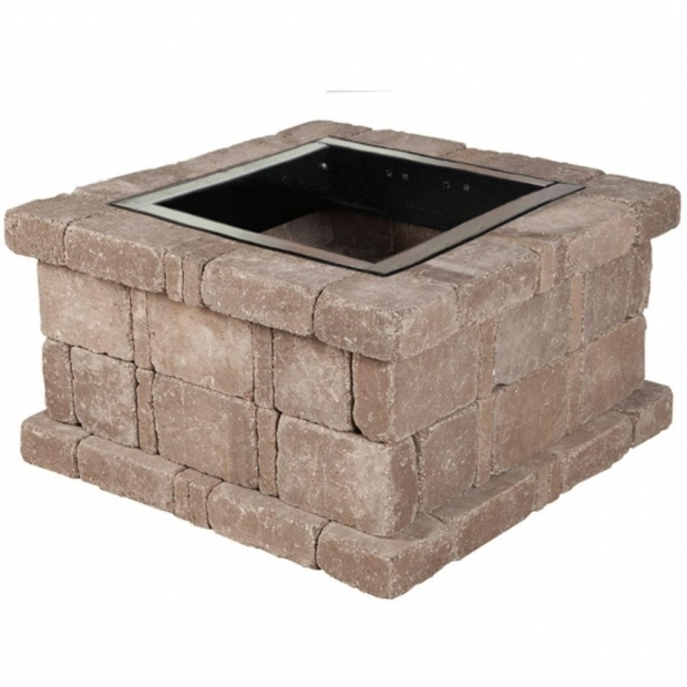 Fantastic Fire Pit Kits Home Depot Pavestone Rumblestone 46 In X 105 In Round Concrete Fire Pit