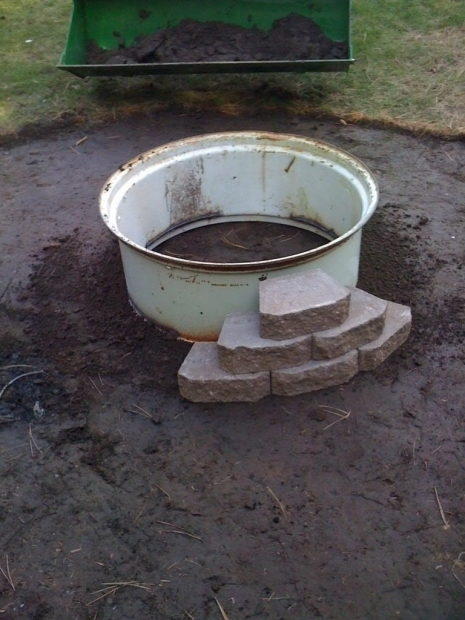 Fascinating Building A Fire Pit With Retaining Wall Blocks Fire Pit Metal Insert Page 3