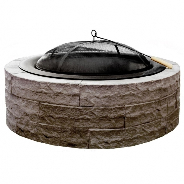 Fascinating Fire Pit Bowl Insert Replacement Series 100 42 In Lightweight Concrete Fire Pit Kit In Earth
