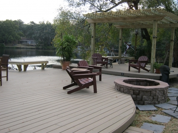 Fascinating Wood Deck With Fire Pit Outdoor Fire Pit For Wood Deck Regarding The House Sakesho