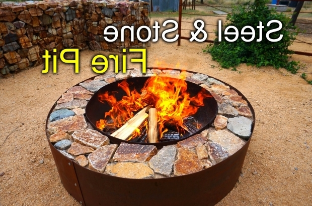 Gorgeous Diy Metal Fire Pit Diy Fire Pit With Steel Stone Youtube