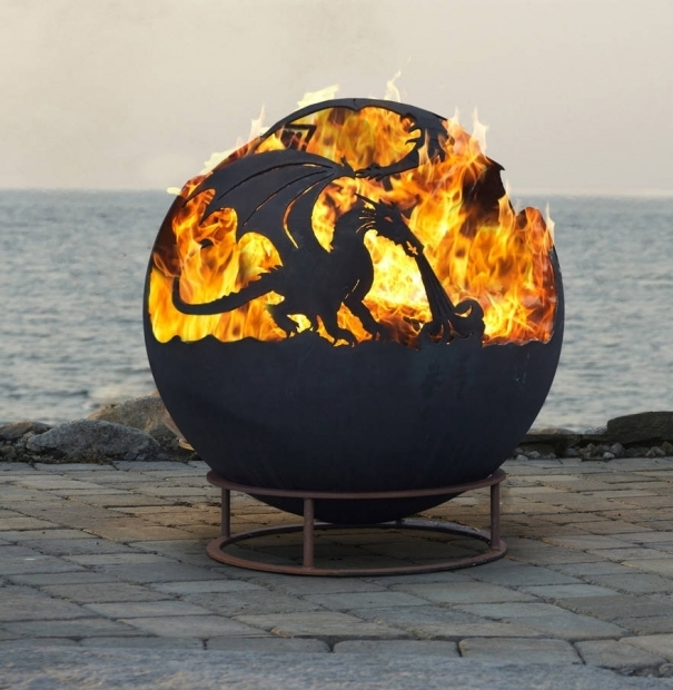 Gorgeous Dragon Fire Pit Up North Fire Pit Sphere Dyo Design Your Own Custom Firepit