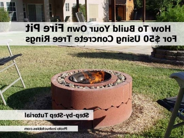 Gorgeous How To Start Fire In Fire Pit How To Build Your Own Fire Pit For 50 Using Concrete Tree Rings