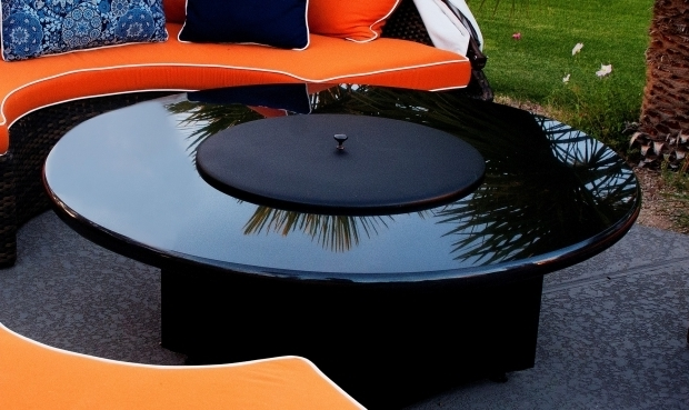 Gorgeous Metal Fire Pit Cover Fire Table Fire Pit Metal Lid Cover 22 Black