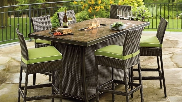 Image of Bar Height Fire Pit Table Impressive Ideas Fire Pit Dining Table Set Joyous Balmoral Bar