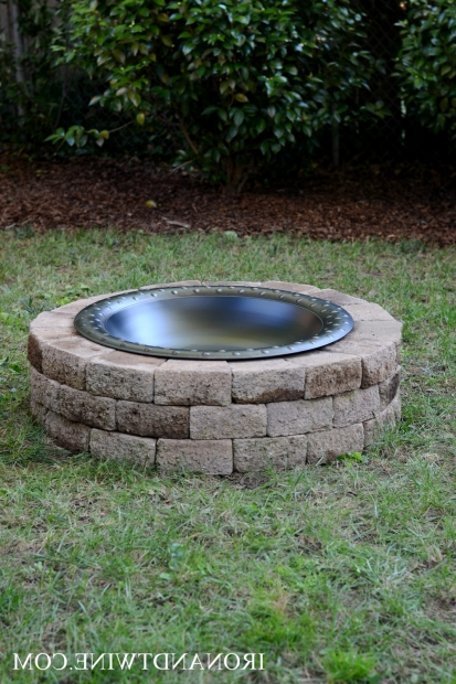 Image of Building A Fire Pit With Retaining Wall Blocks How To Build A Fire Pit