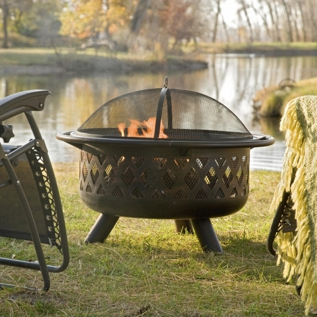 Image of Cauldron Fire Pit Red Ember Brockton Steel Cauldron Fire Pit With Free Cover Fire