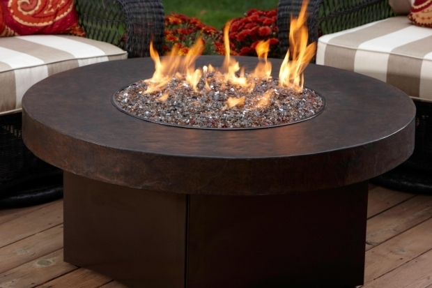Image of Round Gas Fire Pit Table Oriflamme Gas Fire Pit With Savannah Stone Table Top