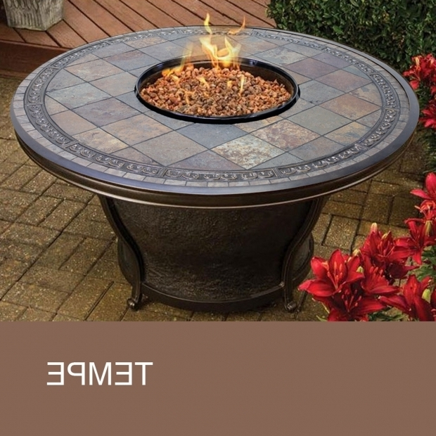 round gas fire pit table - fire pit ideas