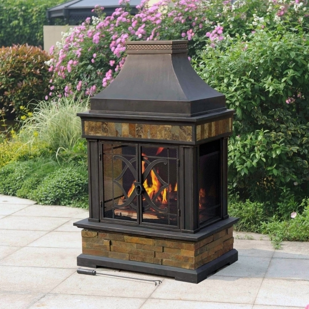 Image of Sam's Club Fire Pit Sunjoy Heirloom Slate Fireplace Sams Club Outdoor Soirees