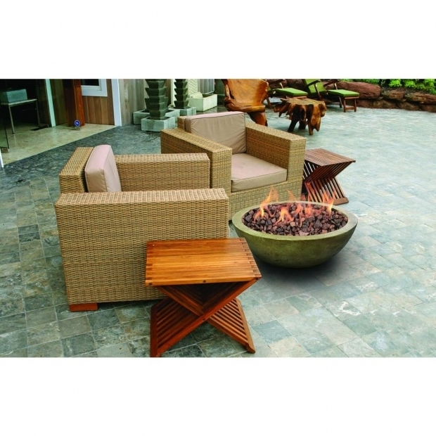 Image of Threshold Fire Pit Bond Manufacturing Mondavi 36 In Envirostone Round Propane Fire