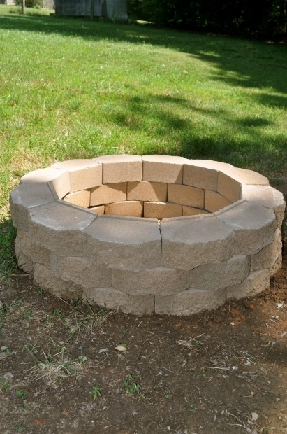 Incredible Cinder Block Fire Pit Plans Cinder Block Fire Pit Home