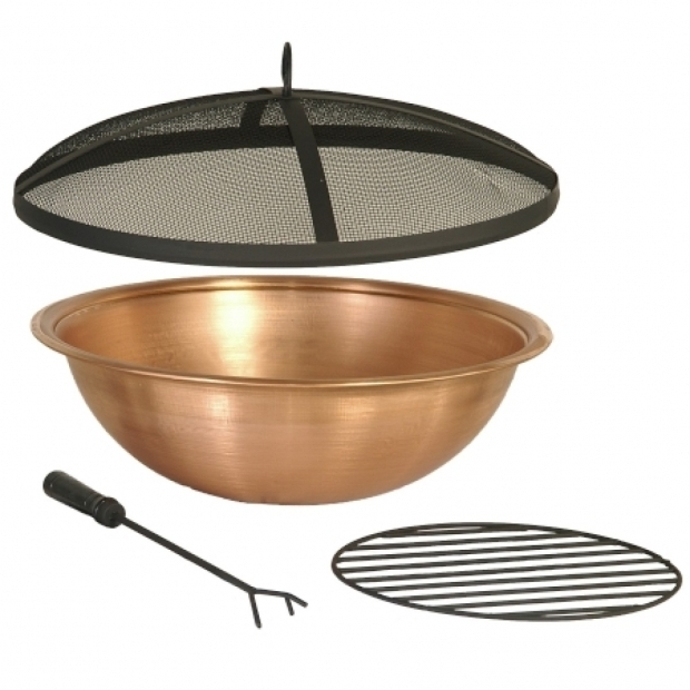 steel fire pit bowl insert incredible replacement copper accessories 30 diy