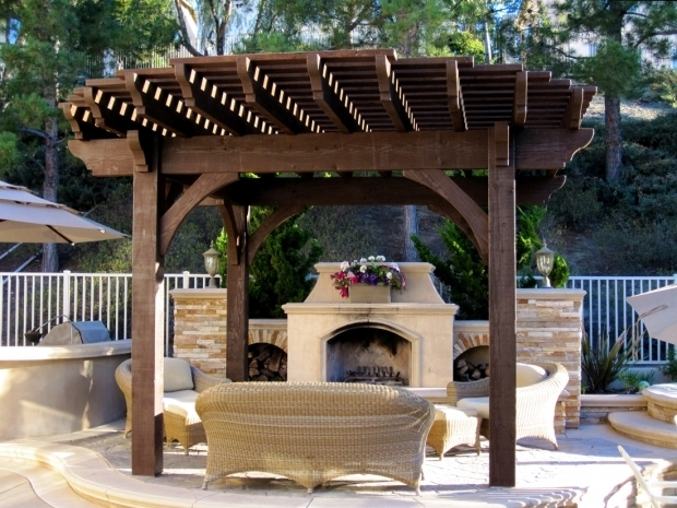 Incredible Gazebo With Fire Pit Install A Diy Timber Frame Pergola Over A Fireplace Or Fire Pit
