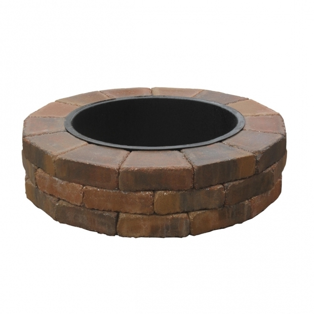 Inspiring Lowes Fire Pits Outdoor Shop Country Stone Fire Ring Firepit Patio Block Project Kit At