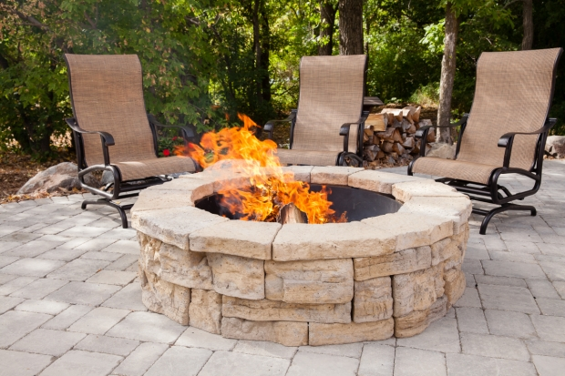 Marvelous Paver Fire Pit Kit Rosetta Round Outdoor Fire Pit Kit