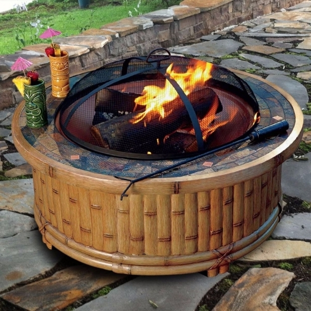 Marvelous Tiki Fire Pit Tiki Wood Fire Pit 36 Outdoor Deck Backyard Patio Firepit Burning