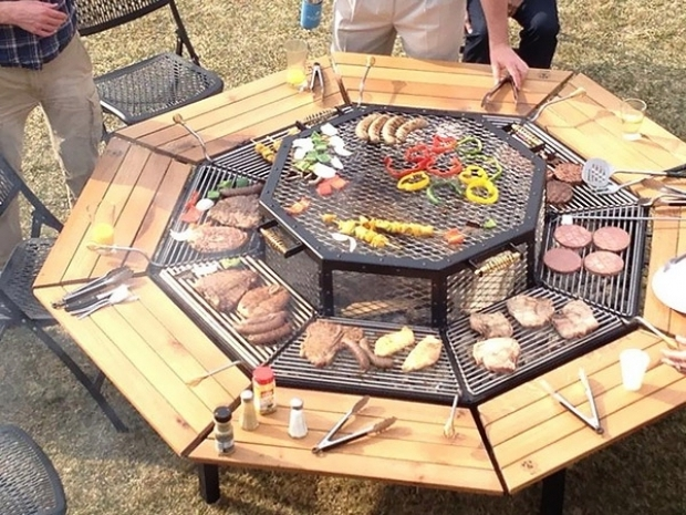 Picture of Grill For Fire Pit A Dining Table Firepit And Grill In One Homes And Hues