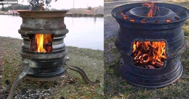 Picture of Wheel Fire Pit Diy Car Rim Fire Pit Youtube