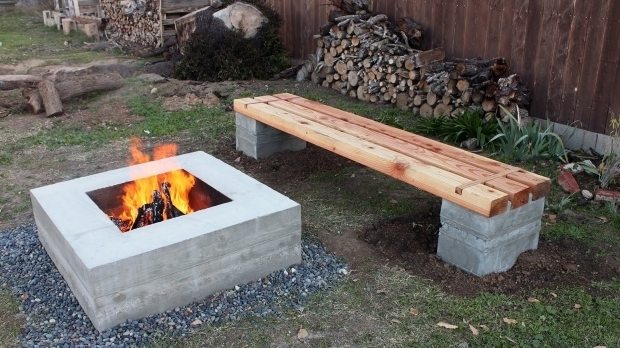 Remarkable Cement Block Fire Pit Cinder Block Fire Pit Bench