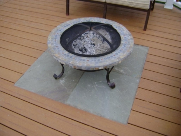 Remarkable Fire Pit Mat For Wood Deck Deck Fire Pit Mat Deck Design And Ideas