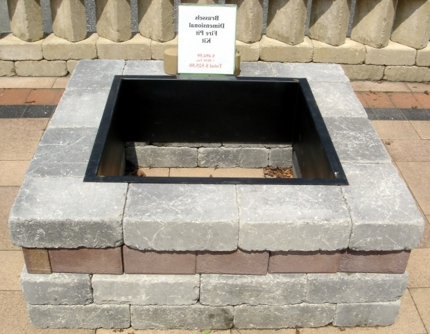 Remarkable Square Fire Pit Liner Concrete Block And Brick Products