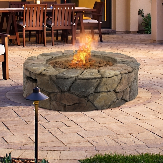 Stunning Gas Fire Pit Bcp Stone Design Fire Pit Outdoor Home Patio Gas Firepit Walmart