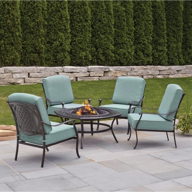 Stunning Patio Conversation Sets With Fire Pit Hampton Bay Belcourt 5 Piece Metal Patio Fire Pit Conversation Set