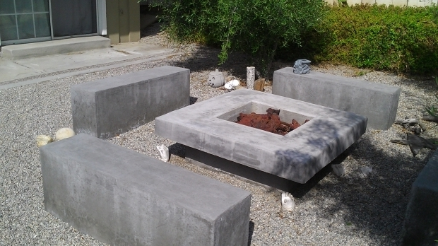 Stylish Concrete Fire Pit Exploding Concrete Firepit Crafts Home