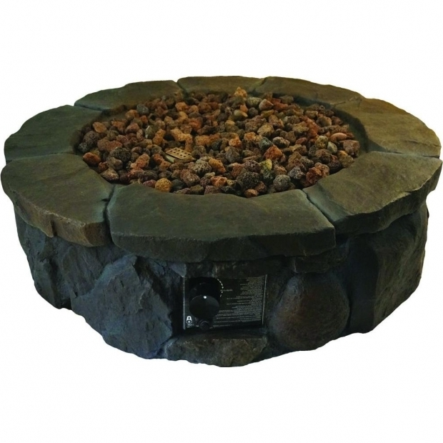 Stylish Home Depot Propane Fire Pit Hampton Bay 36 In Envirostone Propane Fire Pit 68163 The Home Depot
