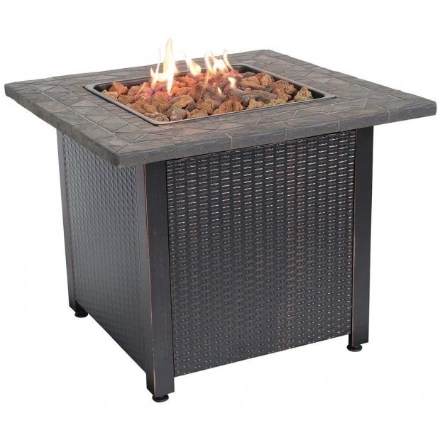 Wonderful Fire Pits At Home Depot Endless Summer 30 In Steel Lp Fire Pit With Faux Slate Mantel