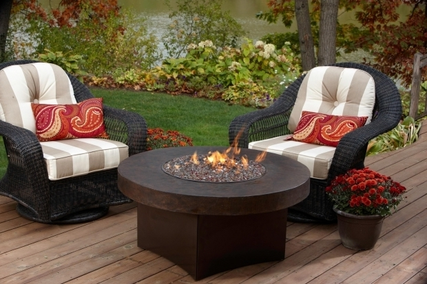 Wonderful Round Gas Fire Pit Table Oriflamme Gas Fire Pit With Savannah Stone Table Top