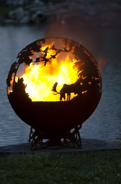 Alluring Globe Fire Pit Up North Fire Pit Sphere The Fire Pit Gallery