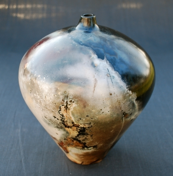 Alluring Pit Fired Pottery Raku Firing Pit Fired Vessel Cpcarlsonpottery Terre Cotte