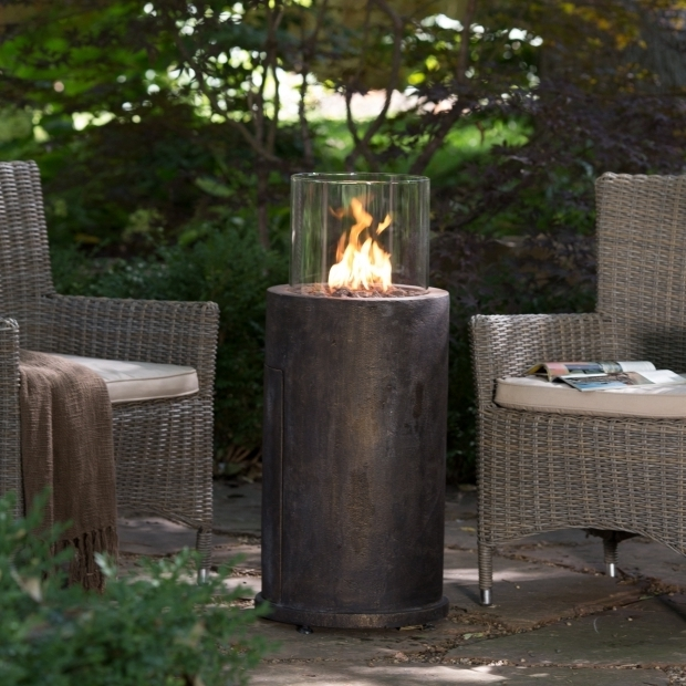 Amazing Fire Pit Column Red Ember Kona Gas Fire Column With Free Cover Fire Pits At